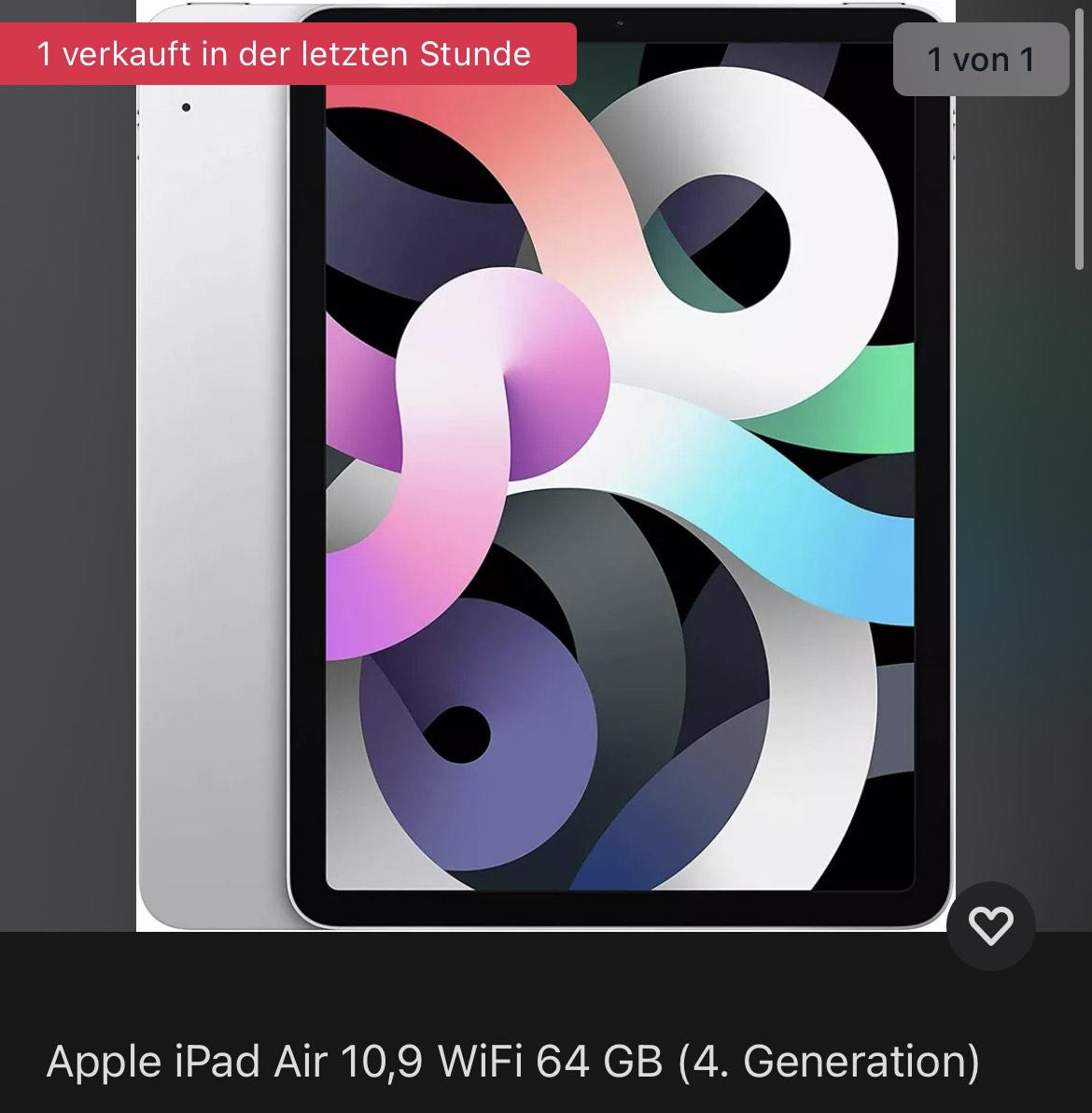 Apple iPad Air 10,9 WiFi 64 GB (4. Gen)