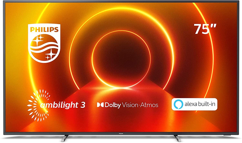 Philips TV 75PUS7805/12 75 Zoll Fernseher mit Ambilight (4K UHD LED TV, HDR10+) [Amazon]