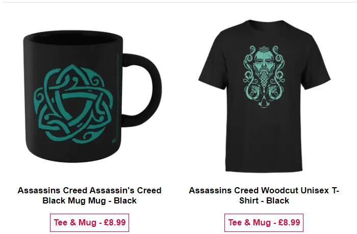 Assassins Creed Woodcut Tasse + T-Shirt für 12,98 € @ Zavvi