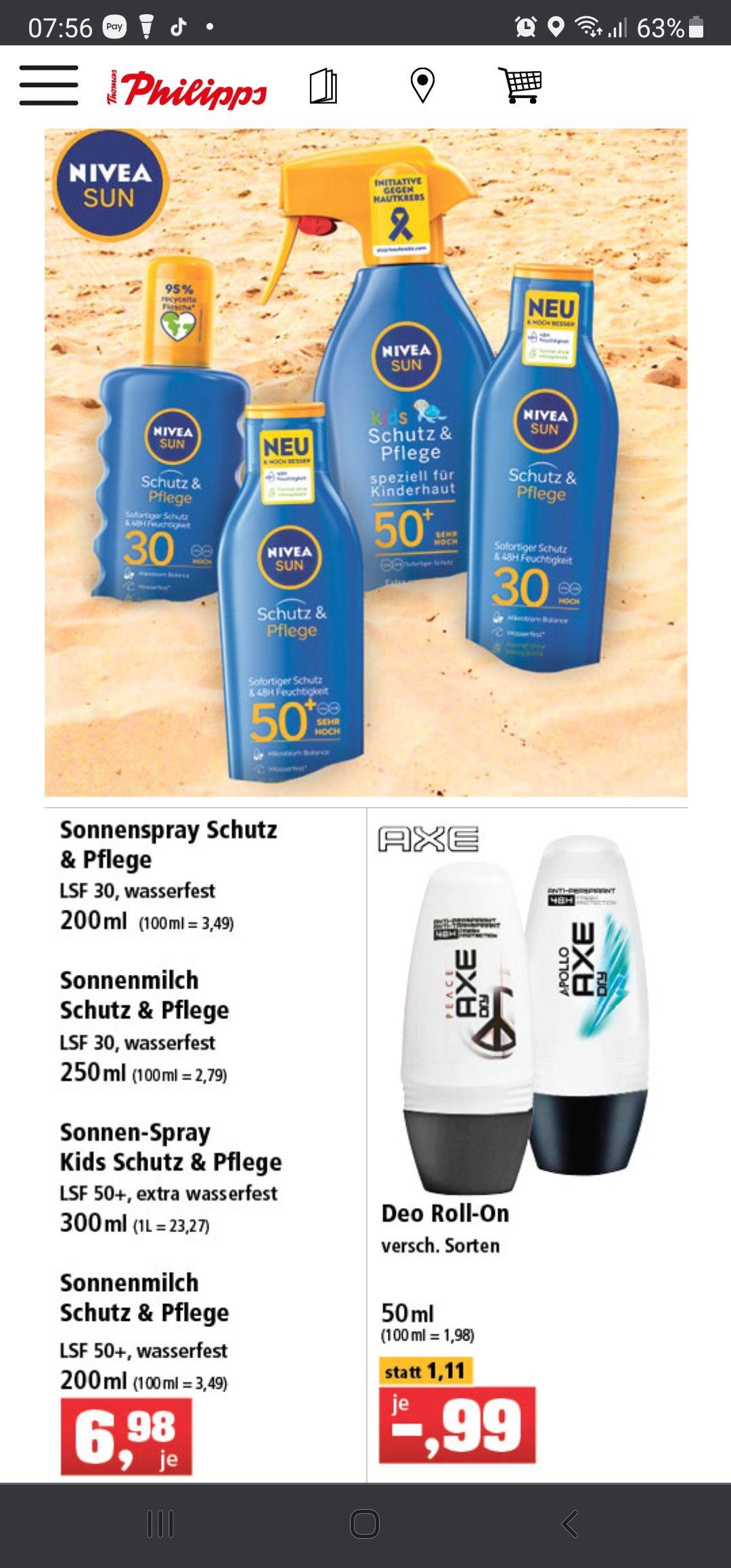 Thomas Phillips: NIVEA SUN Kids Schutz & Pflege Sonnenspray LFS 50+