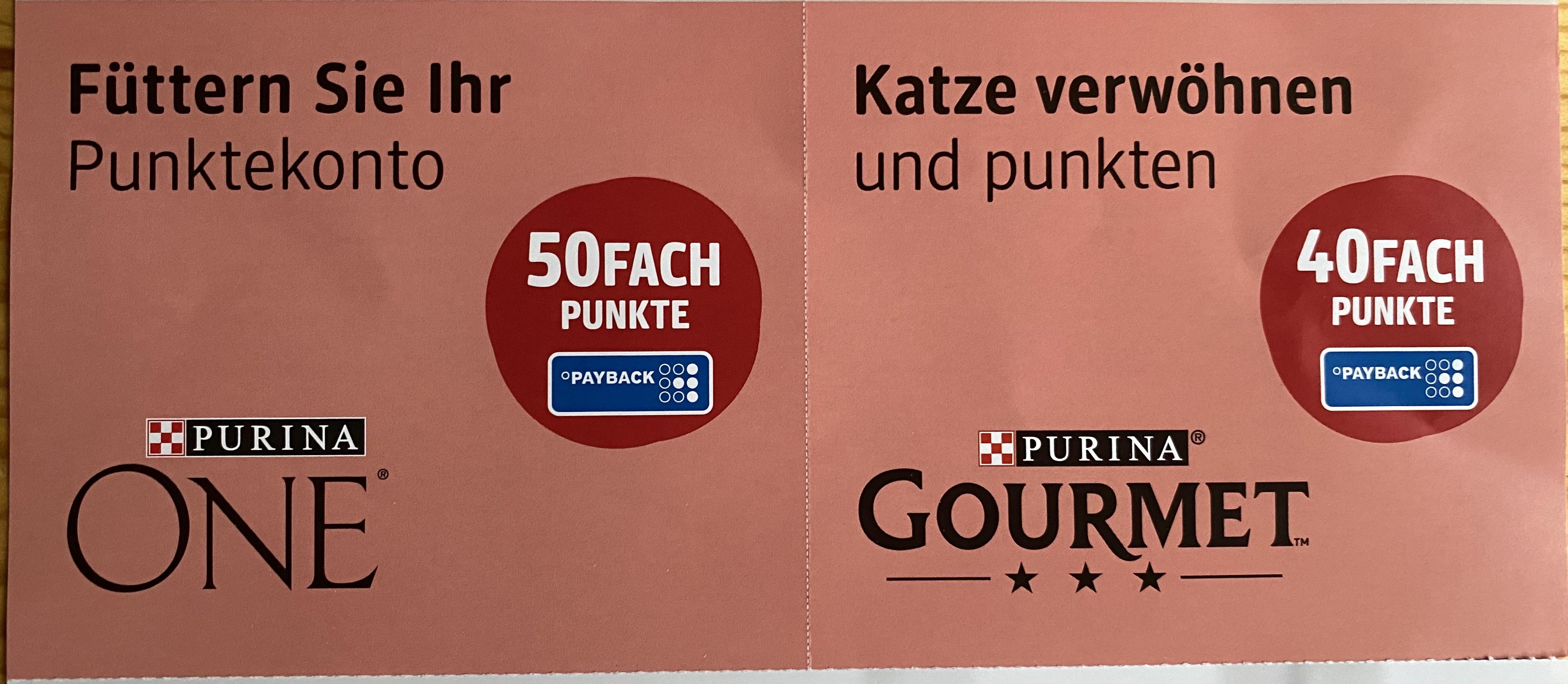[DM / Payback] 40/50fach Punkte auf Purina GOURMET/ONE | gültig bis zum 11.07.2021