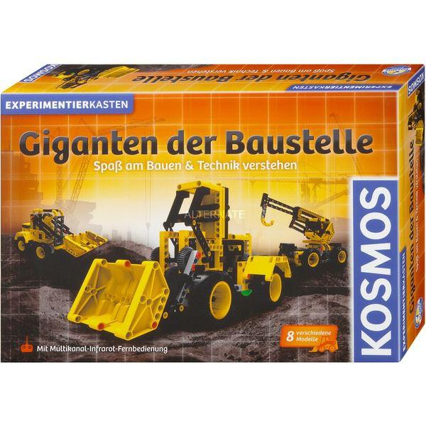 KOSMOS Giganten der Baustelle, Experimentierkasten, Baufahrzeuge bauen, mit Infrarot-Fernsteuerung, 8 Modelle [Alternate]
