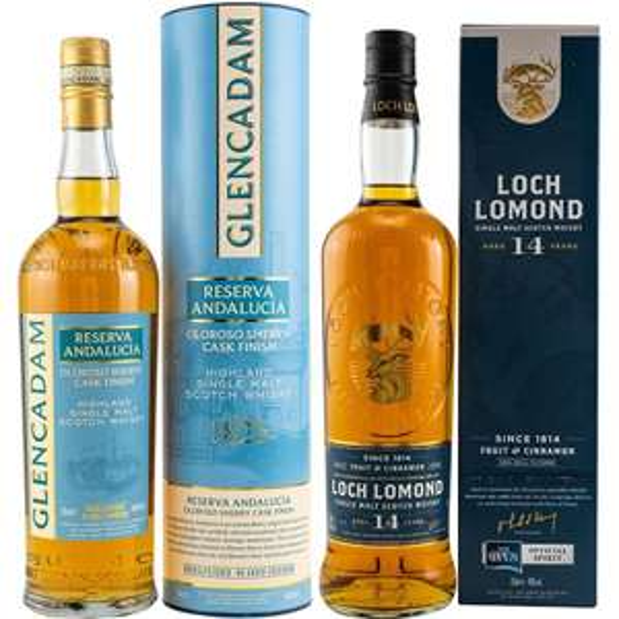 Whisky-Übersicht #95: z.B. Glencadam Reserva Andalucía Oloroso Sherry Cask Finish für 33,90€, Loch Lomond 14 Jahre für 38,90€ inkl. Versand