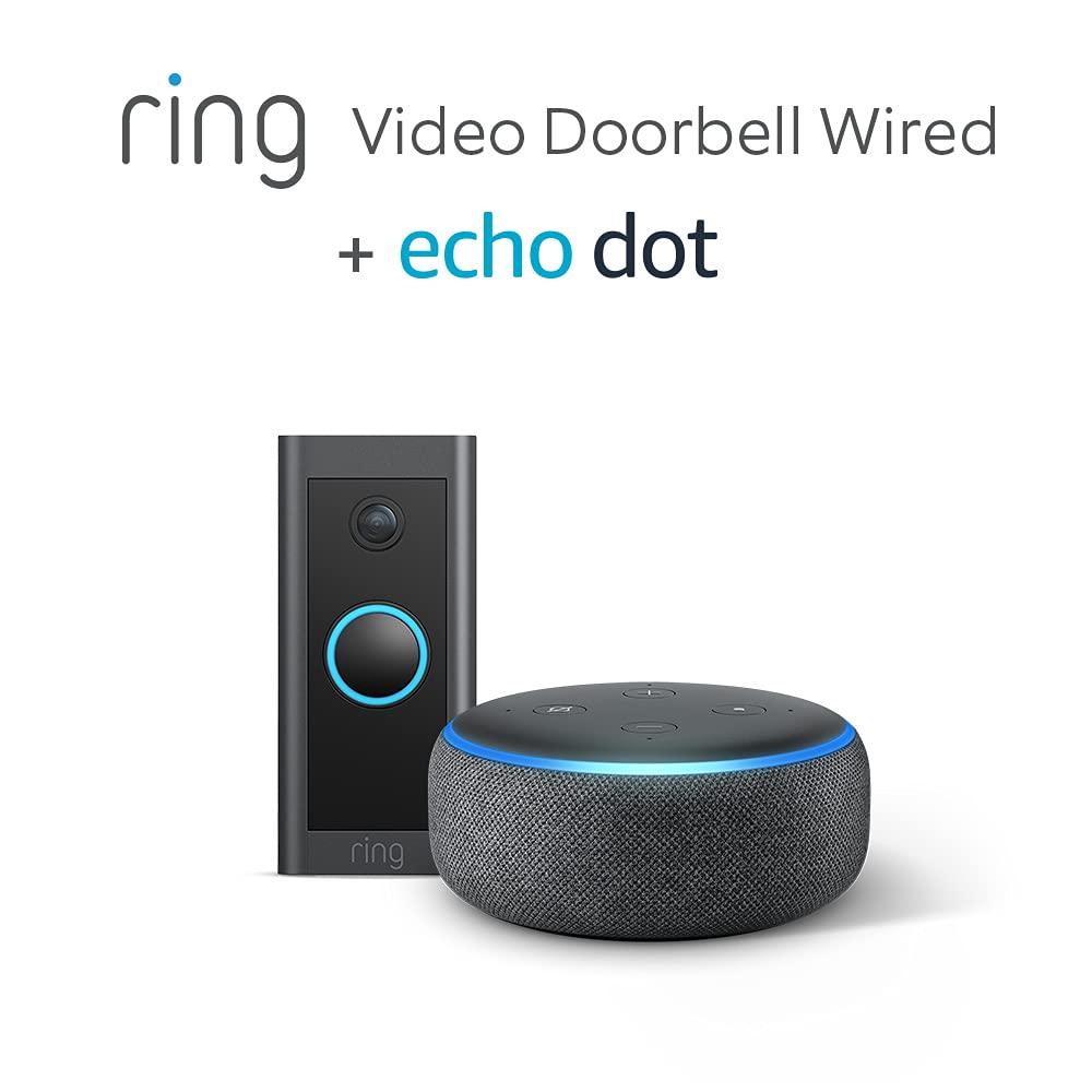 Ring Video Doorbell Wired von Amazon + Echo Dot (3. Gen.) [Amazon Prime]