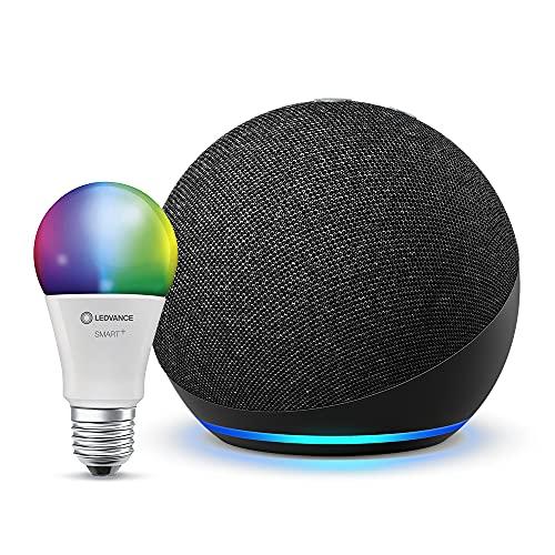 [Prime] Echo Dot 4. Gen mit smarter Glühbirne/Plug | Dot solo 24,99€ | mit Uhr 34,99€