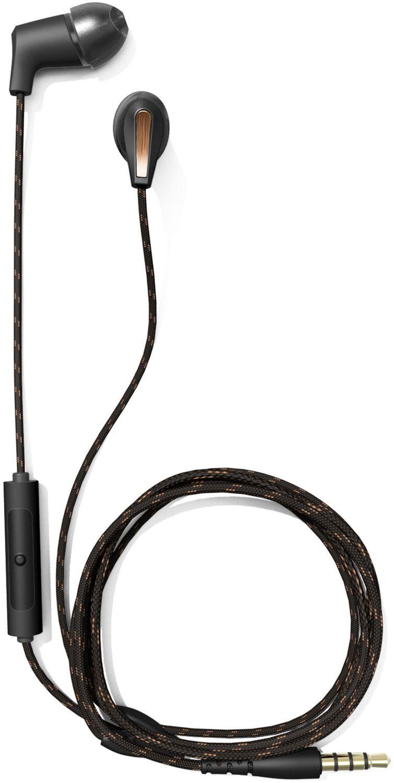 Klipsch T5M Wired In-Ear-Kopfhörer (10 - 19.000 Hz, Textilkabel, Pause/Play, Mikrofon, 3,5 mm Klinke, IPX4) Schwarz