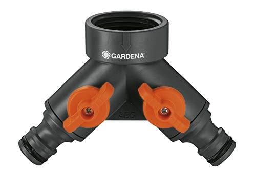 Gardena 2-Wege-Ventil: Wasserverteiler für Wasserhahn mit 26.5 mm (G 3/4 Zoll) Prime