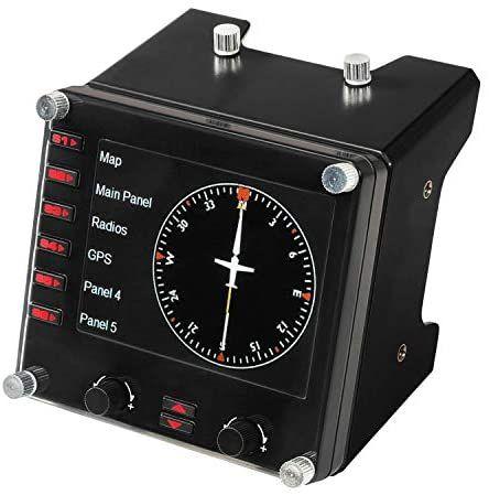 Logitech G Saitek Pro Flight Instrumenten-Panel, Steuerpanel für Flug Simulatoren, 3.5 Zoll LCD-Farbdisplay [Amazon]