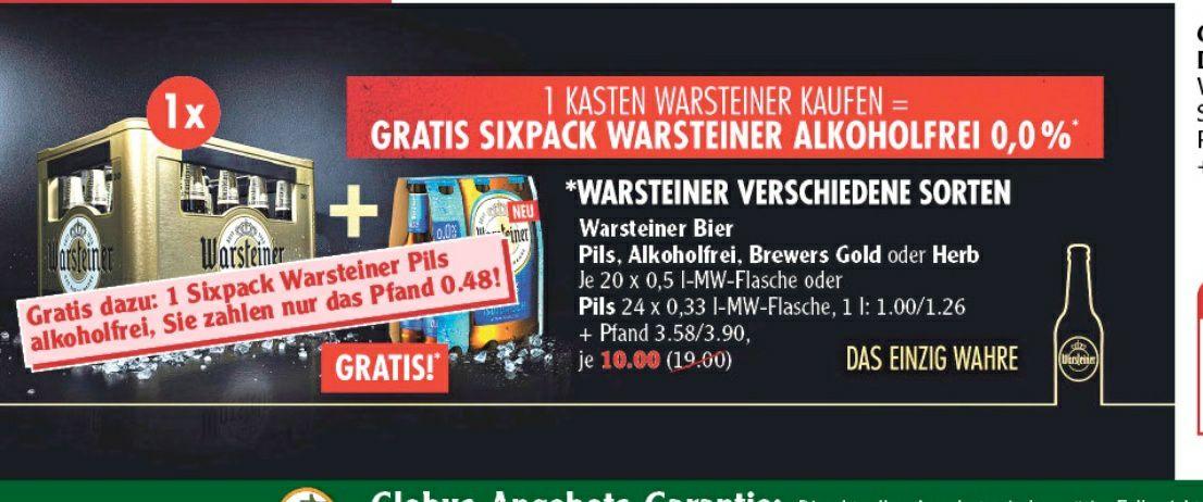1 Kiste Warsteiner + Sixpack Alkoholfrei Gratis Globus Ludwigshafen