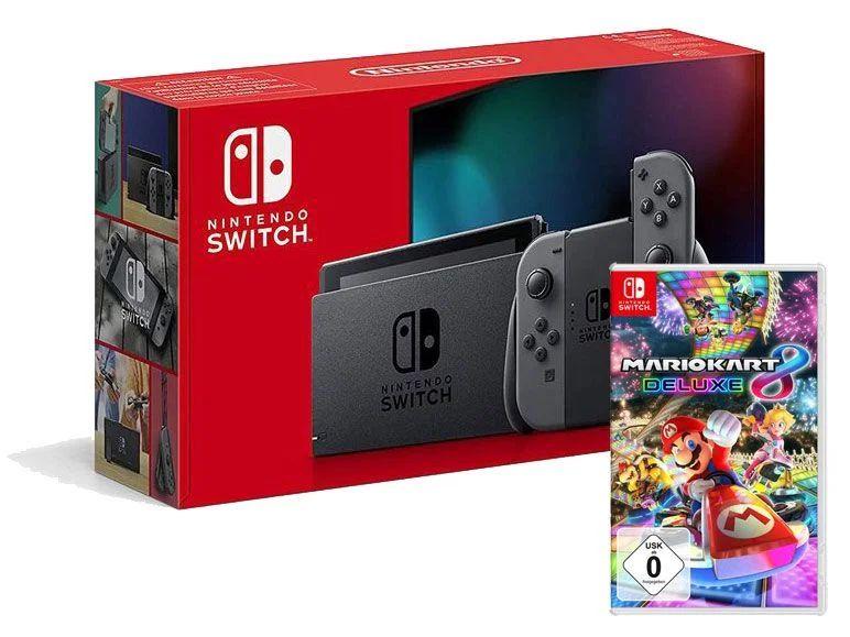 Nintendo Switch (Edition 2019) mit Mario Kart 8 Physische Version
