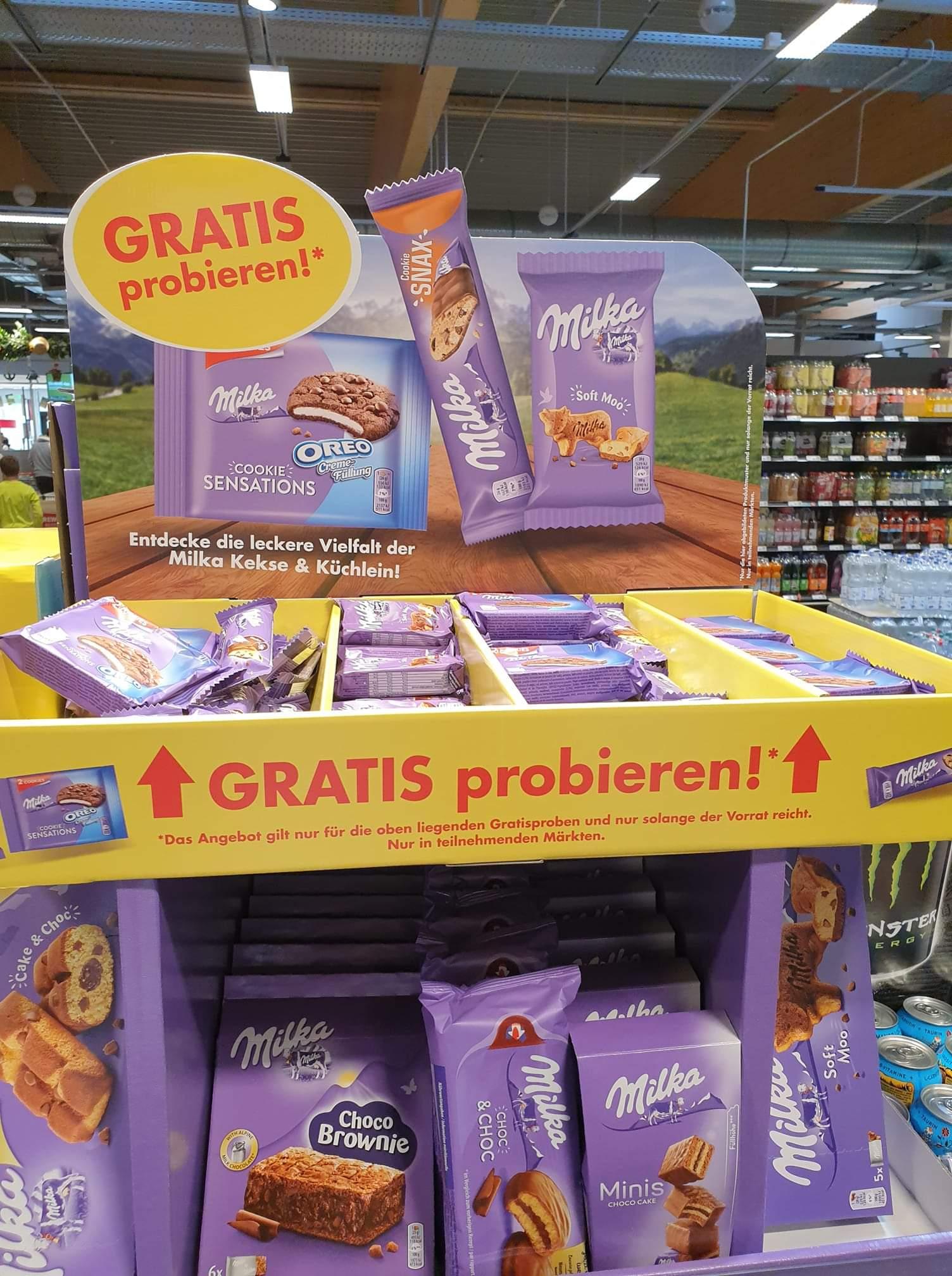 GRATIS: Milka Snacks in den Märkten gratis probieren