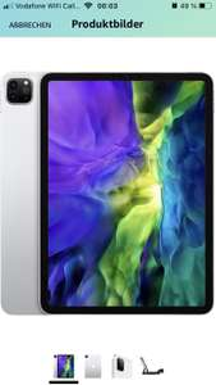 "Für Prime-Mitglieder: 2020 Apple iPad Pro (11"", Wi-Fi, 128GB) - Silber (2. Generation)"