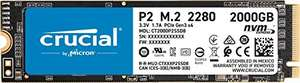 Crucial P2 CT2000P2SSD8 2TB interne SSD, tot 2400 MB/s (3D NAND, NVMe, PCIe, M.2) € 146,99 / 1TB € 77.99 - Amazon Prime-