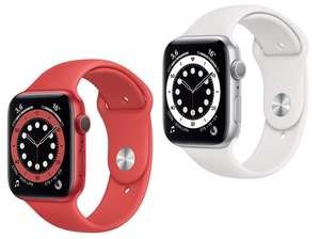 Prime: Apple Watch Series 6 44mm GPS silber o. red für je 369€ (schwarz, blau, gold je 389€)