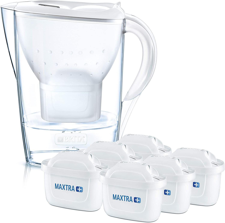 BRITA Wasserfilter Marella inkl. 6 MAXTRA+ Filterkartuschen // mit 12 Kartuschen 44,99€ - in Weiß oder Grau [Prime oder Abholstation]
