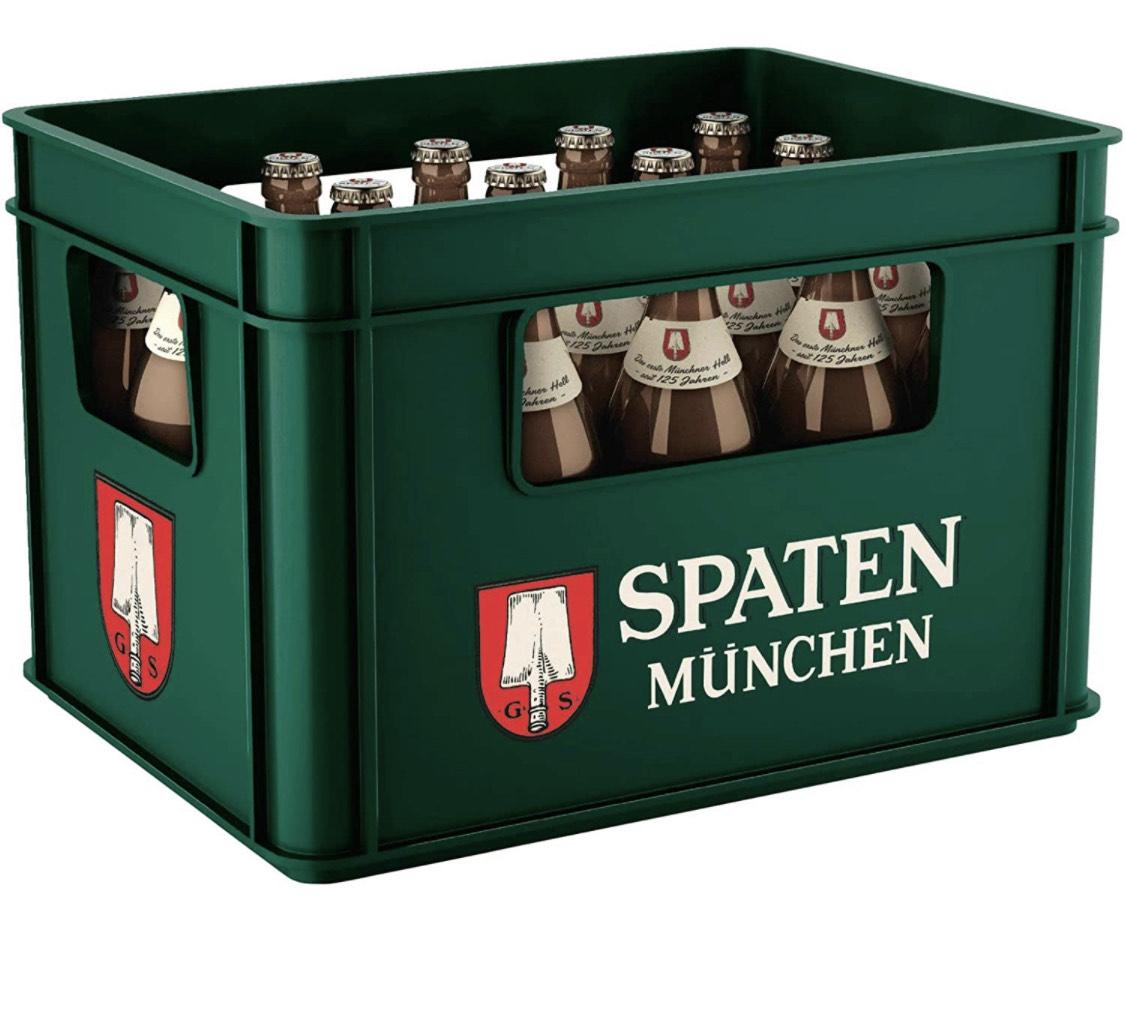 (Prime) SPATEN Münchner Hell Flaschenbier, MEHRWEG (20 x 0.5 l) im Kasten