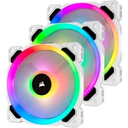Corsair LL120 oder QL120 RGB 120mm weiss / schwarz 3-Pack Lüfter