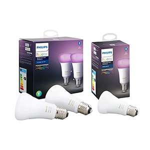 Amazon :Philips Hue E27 3xer PACK white and color ambiance -89,99€