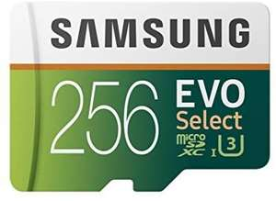 Amazon Prime Samsung EVO Select 256 GB microSD