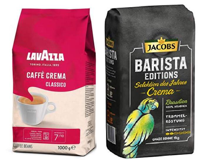 [Amazon Prime Day] Lavazza für 8,49€ und Jacobs 7,95€ ganze Kaffeebohnen   Crema   Espresso