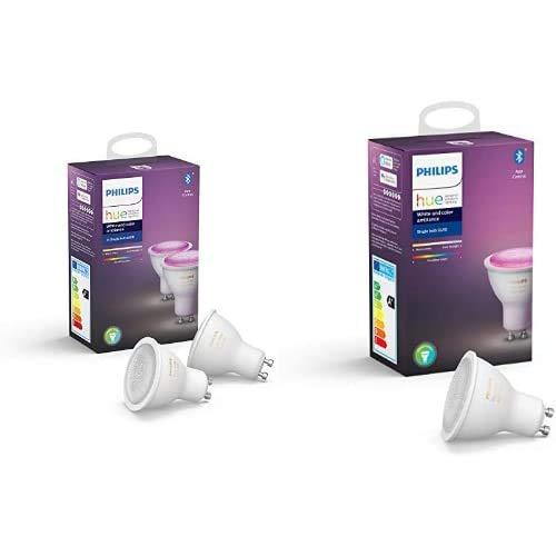 Philips Hue GU10 Dreierpack bei amazon.fr (farbig)