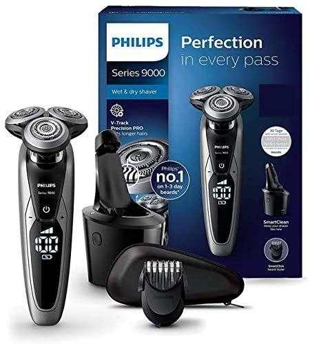 [Prime Day] Philips Series 9000 Elektrischer Nass- und Trockenrasierer S9711/31 inkl. Reinigungsstation