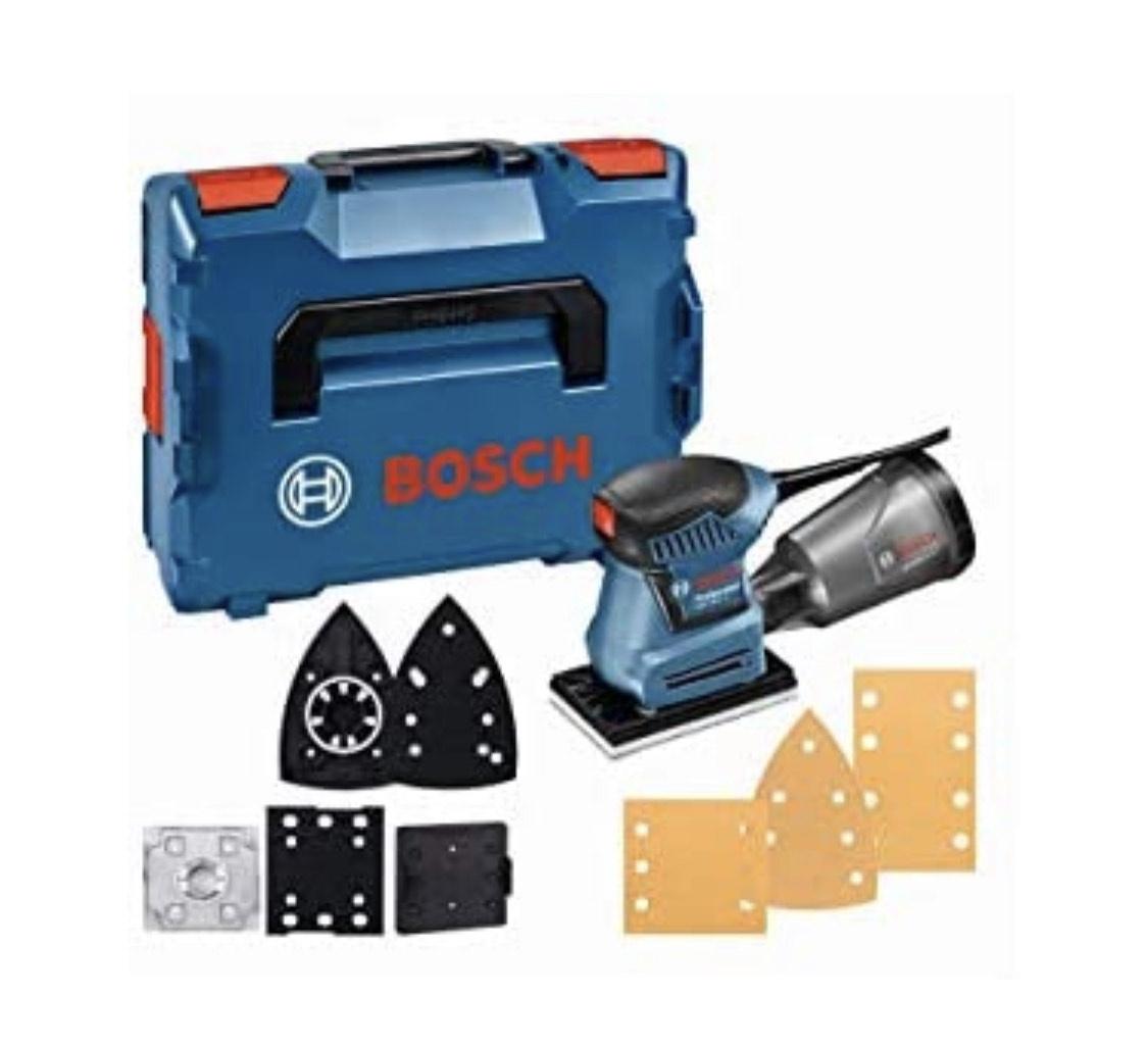 Prime Day: Bosch Professional Schwingschleifer GSS 160-1 A Multi (180 Watt, 1,6 mm Schwingkreis-Ø, in L-BOXX)
