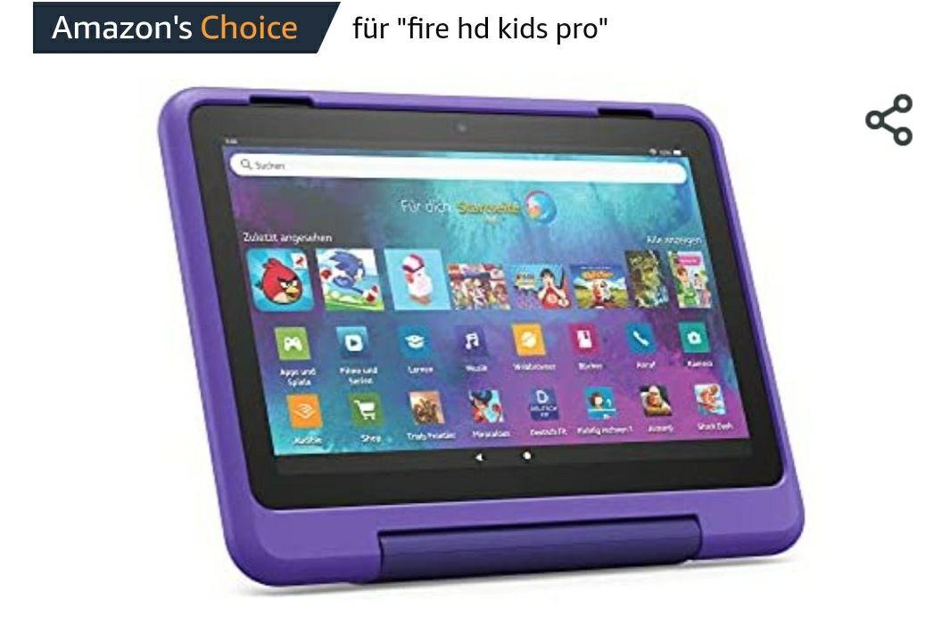 Neu: das Fire HD 8 Kids Pro-Tablet | Ab dem Grundschulalter | 20,3 cm großer Bildschirm (8 Zoll), 32 GB, kindgerechte Hülle Amazon Prime Day