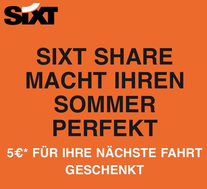 SIXT Share 5€ Gutschein (evtl. Personalisiert)