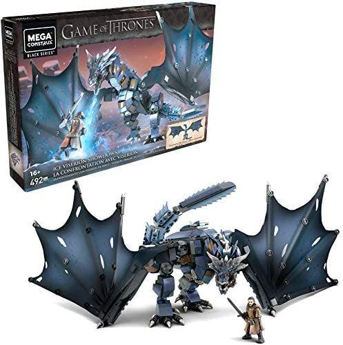 Mega Construx GMN74 - Probuilder Game of Thrones Eis-Viserion Showdown, Amazon Prime