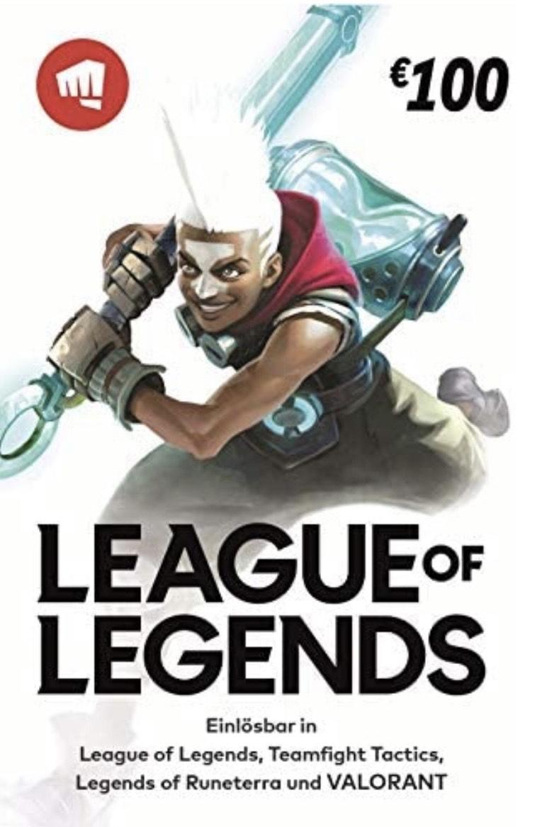 [Amazon Prime] League of Legends / VALORANT €100 Gift Card   Riot Points