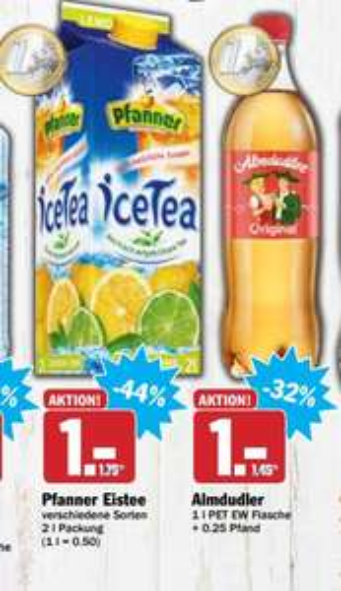 Almdudler Kräuterlimomade 1 Liter für 1€ zzgl. 0,25€ Pfand
