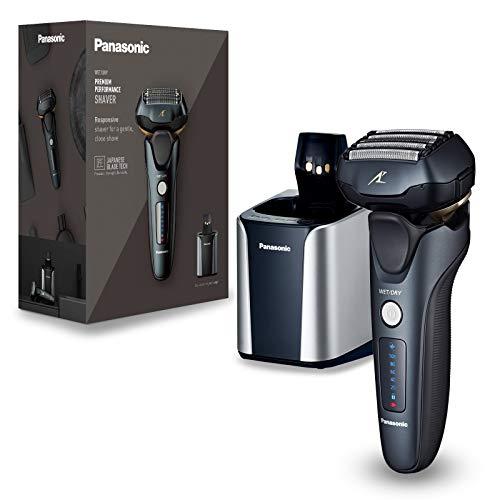 [Prime] Panasonic ES-LV97-K803 Nass/Trocken-Rasierer, 5-fach-Scherkopf mit Linearmotor, inklusiv Reinigungs- und Ladestation
