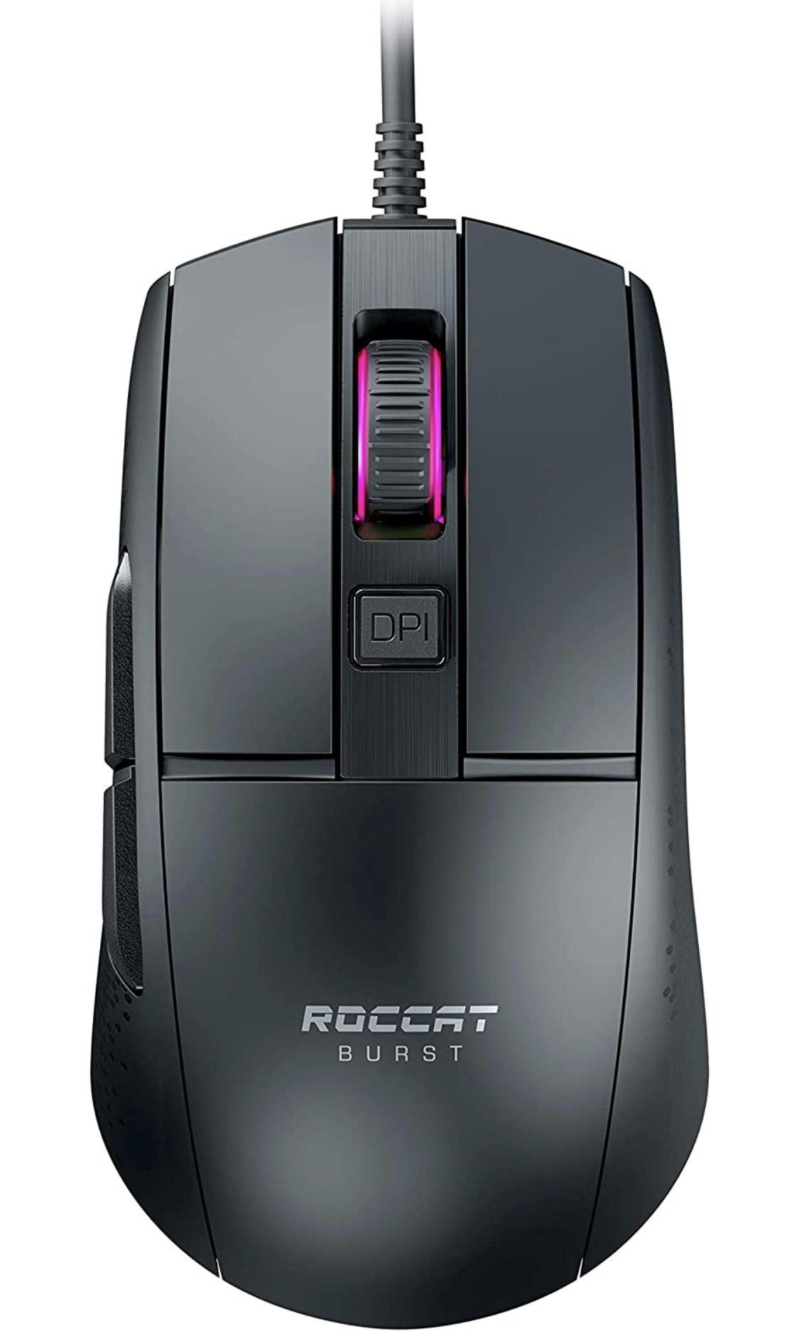 [prime] Roccat Burst Core Gaming Maus Schwarz und Weiß