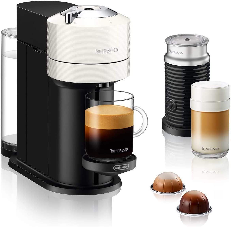 Nespresso Prime Day Deals: z.B. De'Longhi Nespresso Vertuo Next ENV 120.WAE Kaffeekapselmaschine mit Aeroccino Milchaufschäumer