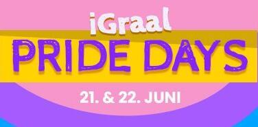 [iGraal Cashback · Pride Days] Booking.com 8% | Media Markt 5% | sky 60€ | OTTO 30€ | Thalia 16% | Deichmann 14% | Sixt Flixbus Galaxus 10%