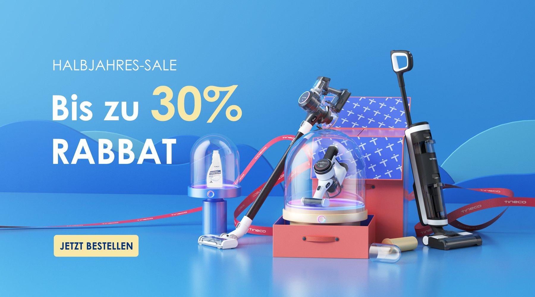 Tineco 30 % Rabatt - Halbjahres Sale!