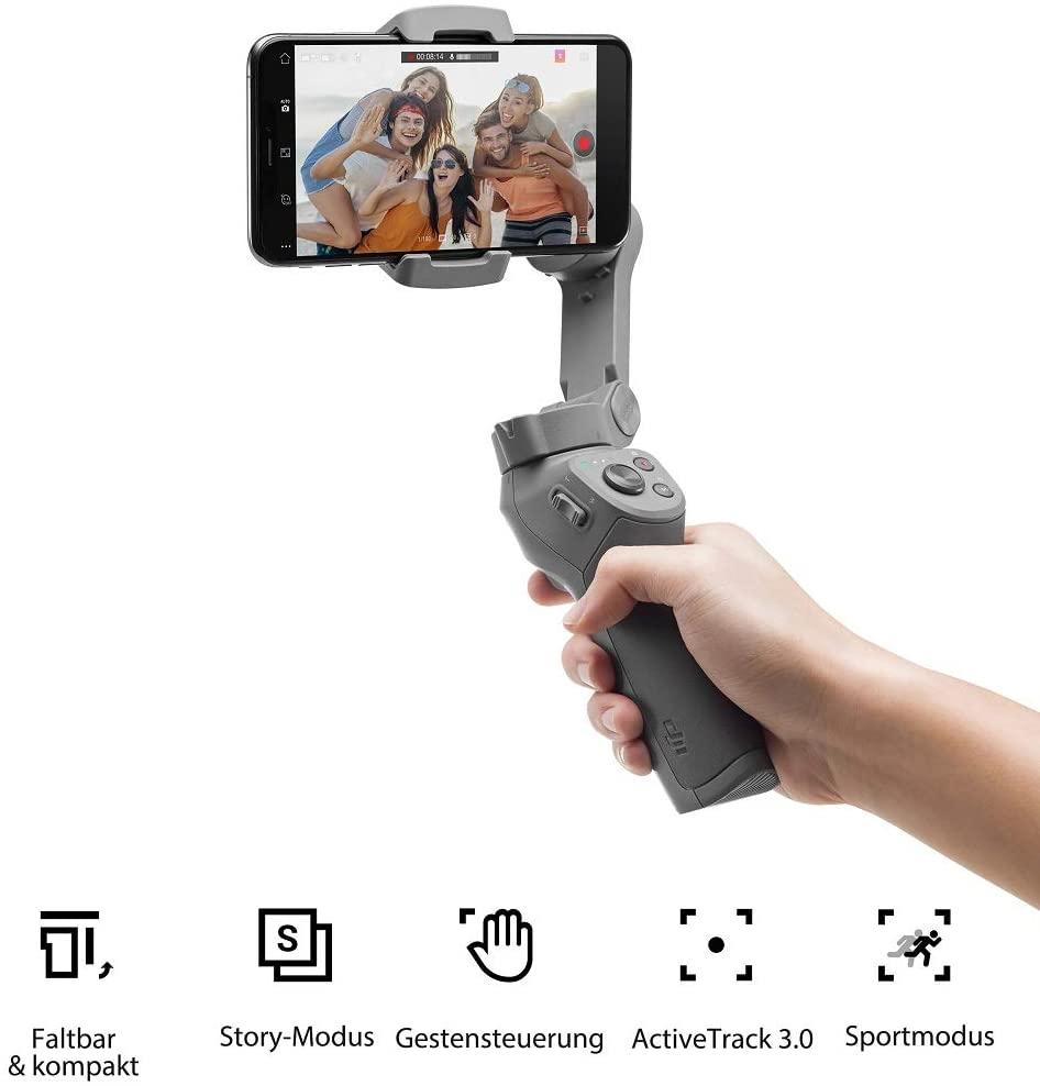 DJI Osmo Mobile 3 - Smartphone-Gimbal mit Stabilisierung auf 3 Achsen für 69€ (Foto Erhardt)
