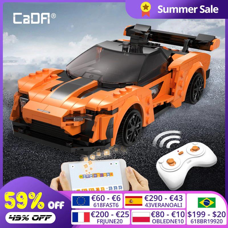 CADA Klemmbaustein RC-Auto auch in orange und weiß