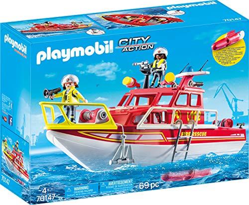 PLAYMOBIL 70147 City Action Boot + Motor bei Amazon