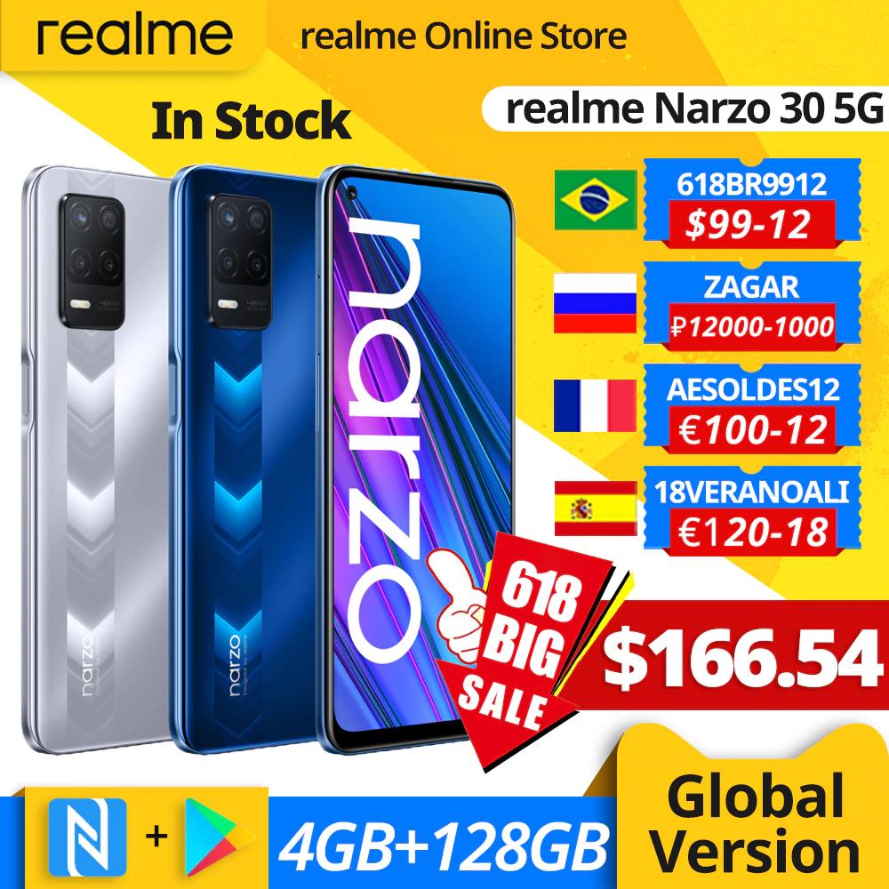 realme narzo 30 5G Smartphone 4GB 128GB Dimensity 700 48MP Triple Camera 5000mAh Battery 90Hz Display NFC