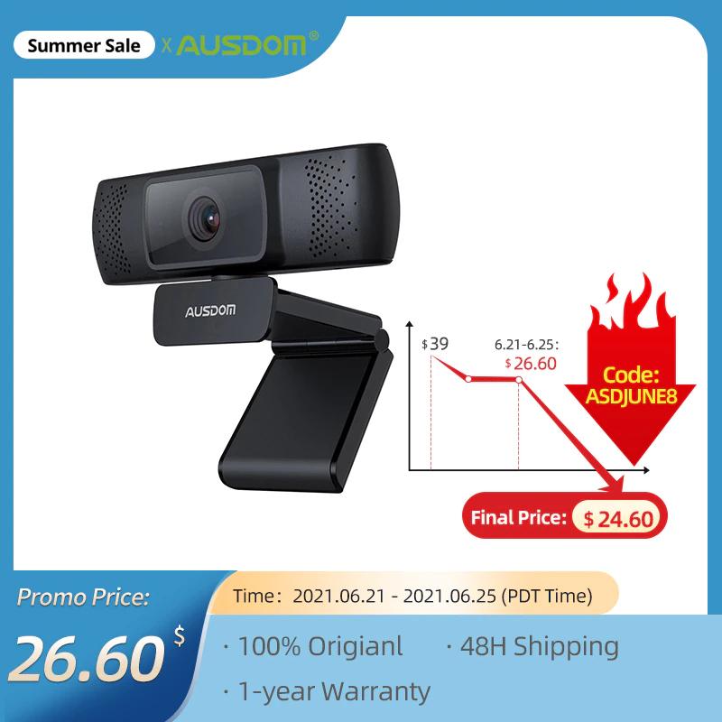 AUSDOM AF640 Web Camera Full HD 1080P