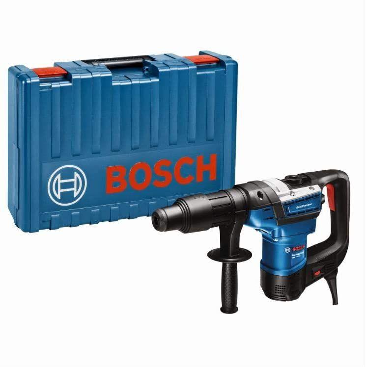 Bosch Professional Bohrhammer GBH 5-40 D (1.150 Watt, 8,5 Joule, SDS Max, inkl. Zusatzhandgriff, Fetttube, Maschinentuch, im Koffer) [Prime]