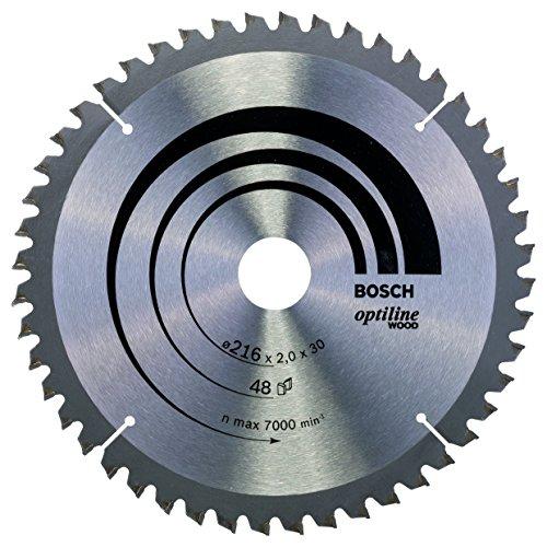Bosch Professional Kreissägeblatt Optiline Wood (216 x 30 x 2 mm, 48 Zähne) - Alternativ Bosch Professional Kreissägeblatt Expert für Wood