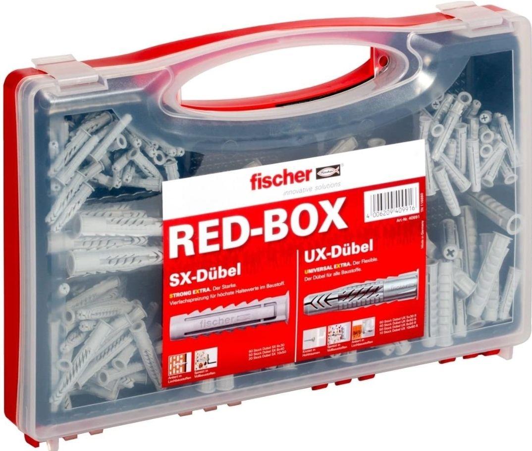 FISCHER RED-BOX Dübelbox/Dübelset 290 teile (Prime)