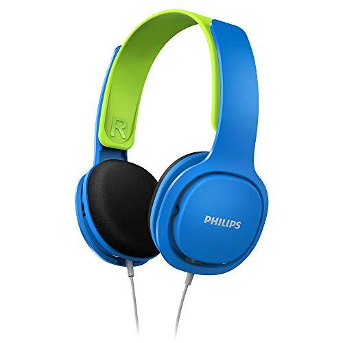 [PRIME] Philips Kinderkopfhörer SHK2000BL/00 Kinderkopfhörer On Ear (Lautstärkebegrenzung 85 db, Ergonomischer Bügel, 32-mm-Neodym) Blau