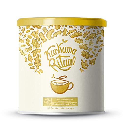 (PRIME DAY) Alpha Foods: Kurkuma Ritual Latte - Goldene Milch, Aus heiligem Kurkuma und konzentrierten Curcuminoiden - 300g Pulver