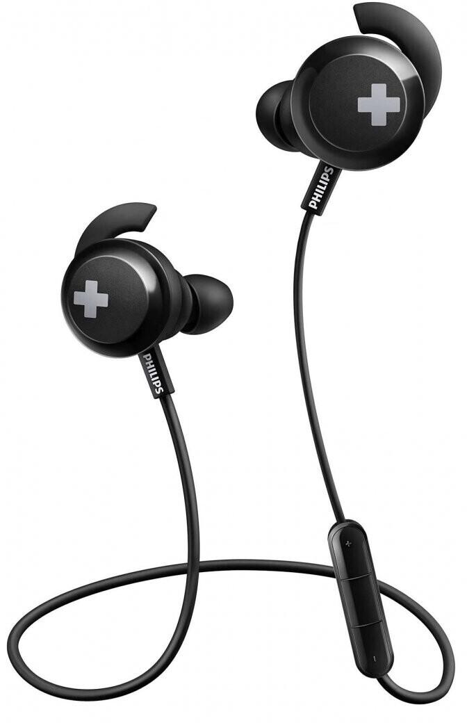 Philips Bass+ SHB4305 Bluetooth-In-Ears (Bluetooth 4.1, ~6h Akku, Micro-USB, 3-Tasten-Fernbedienung, Mikrofon)