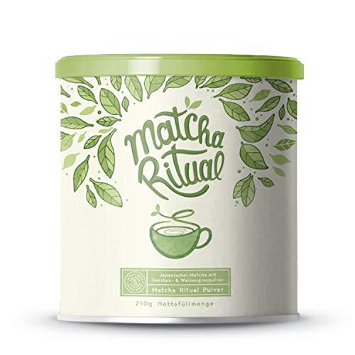 Matcha Ritual - Matcha Latte ergänzt mit Kokosmilch, Weizengras und Gerstengras - 210g Pulver
