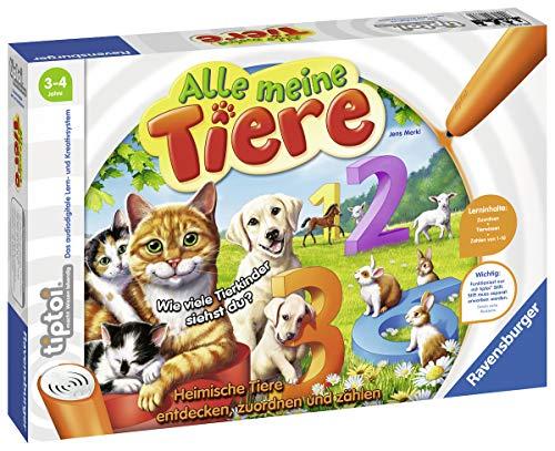 Ravensburger tiptoi-Spiele für um die 11€ z.B. Alle meine Tiere - Lerne spielerisch die Zahlen von 1 bis 10 ... [PRIME]